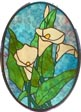 Calla Lilly oval panel
